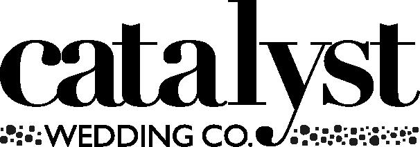 "Catalyst Wedding Company logo. Black text reads ""Catalyst Wedding Co."""